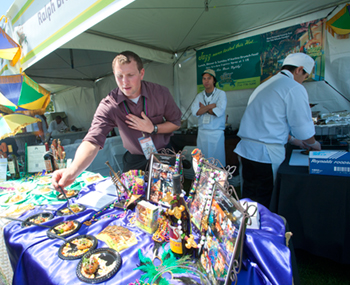 Ralph Brennan's Tasting & Auction booth in 2012