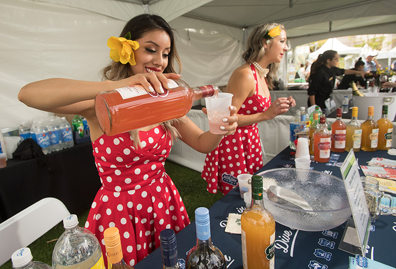 Deep Eddy Vodka booth during the 2018 Cal Poly Pomona Tasting and Auction at Cal Poly Pomona