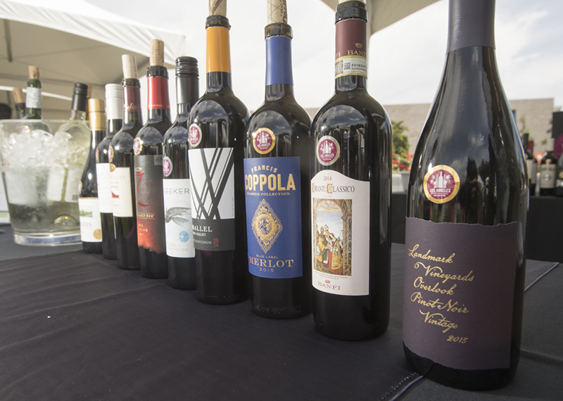 The Los Angeles International Wine Competition booth during the 2018 Cal Poly Pomona Tasting and Auction at Cal Poly Pomona