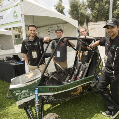 The Baja SAE booth during the 2018 Cal Poly Pomona Tasting and Auction at Cal Poly Pomona