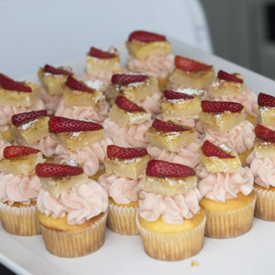 Cupcakes during the 2018 Cal Poly Pomona Tasting and Auction at Cal Poly Pomona